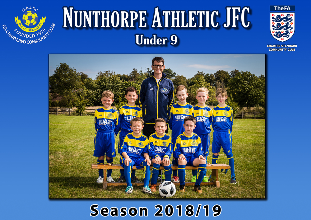 under 9 football at nunthorpe athletic jfc
